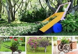 Flower Planter Ideas by 27 Wheelbarrow Flower Planter Ideas For Your Yard Home Stratosphere