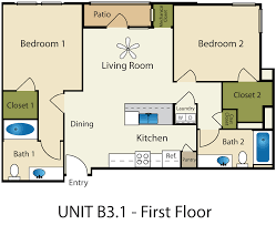 Floor Plan For 3 Bedroom Flat by 3 Bedroom Apartments In Providence Mattress