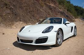 white porsche boxster 981 boxster s white with blue top