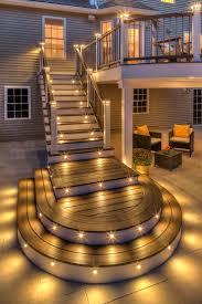 Patio Deck Lighting Ideas Deck Step Lighting Radnor Decoration