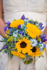 teddy sunflowers the bridal bouquet was created with teddy sunflowers regular