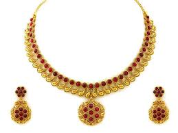 necklace set gold design images Gold and diamond jewellery designs gold antique necklace sets jpg