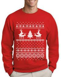 ugly christmas sweater humping reindeer sweatshirt rude party