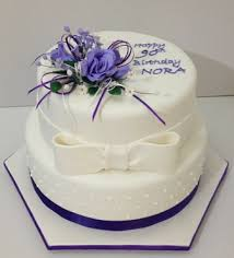 90th birthday cakes purple flowers 90th birthday cake sweetpea designer cakes