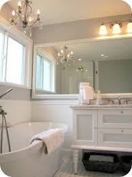 White And Wood Bathroom Ideas Marvelous White Wooden Wall Mounted Mirror Frame Also White Dreser