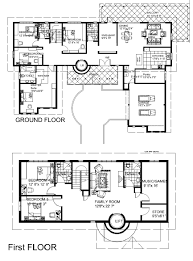 Ground Floor And First Floor Plan by Bungalow Floor Plans Home Design Ideas
