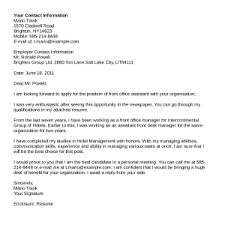 sample cover letters for medical receptionist position letter