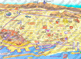 Boston Visitor Map by Maps Update 30722069 Barcelona City Map Tourist U2013 Barcelona Map