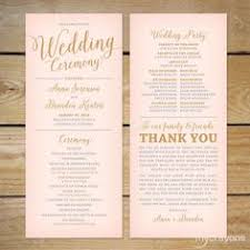 wedding program ceremony i like the order of ceremony in this one wedding program