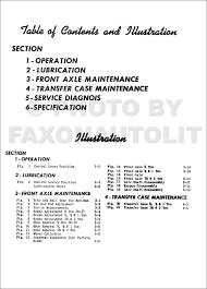 1956 1963 chevy gmc napco 4x4 pickup truck repair shop manual reprint