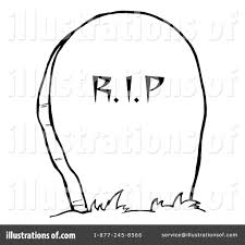halloween graveyard clipart headstone clipart 226843 illustration by hit toon