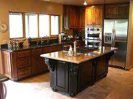 kitchens with different colored islands different color top and bottom kitchen cabinets kitchen