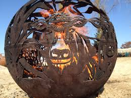 Personalized Fire Pit by Fireball Fire Pits Farm 37 5 Inch Fire Globe 3715fa The