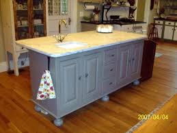 cool rectangle shape farmhouse kitchen island with green color