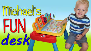 Kids Activity Desk by Michael U0027s Vtech Touch U0026 Learn Activity Desk Deluxe Playtime Review
