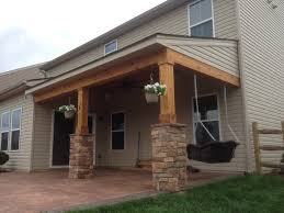 covered porch all cedar trim and cedar tongue and groove ceiling