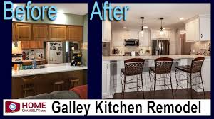 how much is a galley kitchen remodel before after galley kitchen remodel by klm kitchens baths floors kitchen design ideas