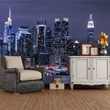 backdrop city custom mural bustling city 3d mural living room