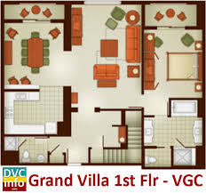 100 bay lake tower two bedroom villa floor plan bay lake