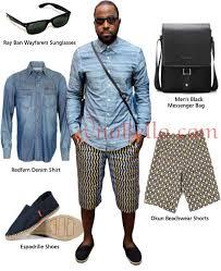mens beach fashion men s fashion dj caise blue denim shirt ankara print beach shorts