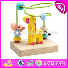 wooden bead toy table wooden toy bead maze educational circle beads toys for wire children