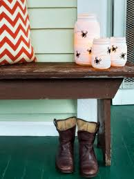 cool halloween yard decorations 9 halloween front porch decorating ideas hgtv