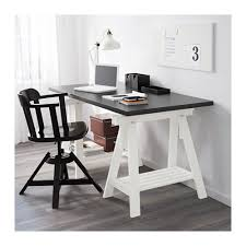 bureau avec treteau finnvard tréteau avec étagère blanc ikea