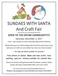 sundaes with santa and craft fair forked river gazette