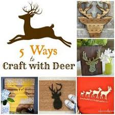 Deer Themed Home Decor Faux Deer Head With Antlers Wall Mount French Nordic White