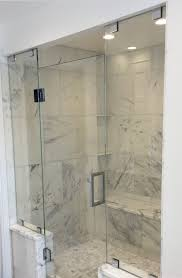 Sliding Shower Doors For Small Spaces 3 Panel Frameless Sliding Shower Door Delta Contemporary
