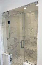 Shower Door Pivot 3 Panel Frameless Sliding Shower Door Delta Contemporary