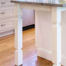 kitchen island leg build in kitchen island legs