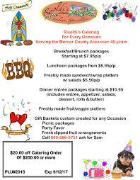 catering menu prices mercer county nj risoldi s market catering