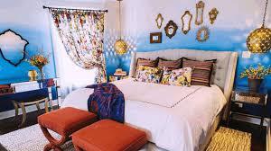 moroccan style living room dark blue microfiber arms sofa white
