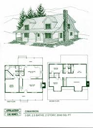 log cabin home floor plans appalachian log homes the cimarron model has features that are