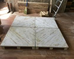 Pallet Platform Bed Pallet Bed Etsy