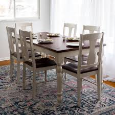 walker edison furniture company two toned 7 piece bourbon and walker edison furniture company two toned 7 piece bourbon and white dining set