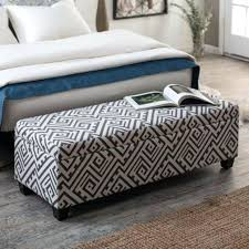 foot of bed storage ottoman end of bed storage bench theoneart club