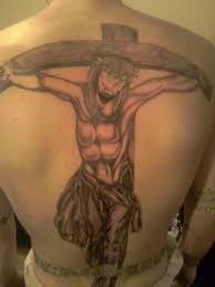 on the cross tattoo