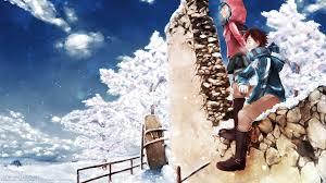 winter anime wallpaper hd anime winter art walldevil