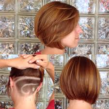 bob with shaved underneath shaved bob honeyblonde in the