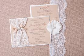 wedding invitations lace abigail burlap lace wedding invitation vintage rustic