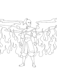 avatar 999 coloring pages lineart avatar airbender
