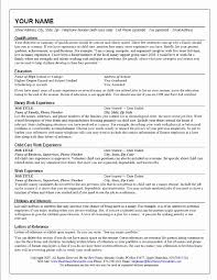 nanny resume template nanny resume template awesome 3 free baby sitter resume sles in