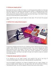 brochure design tips that work