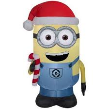 Blow Up Christmas Decorations Home Depot by Minions Christmas Inflatables Outdoor Christmas Decorations