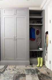 grey mudroom cabinet grey mudroom cabinet and herringbone tile