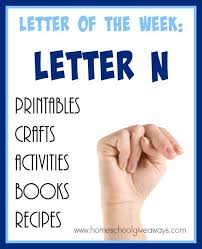 100 resources for teaching the letter n