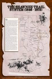 Shawnee Map The Shawnee Trail System 1846 1875 Western Cattle Trail