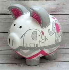 baptism piggy bank personalized large christening baptism piggy bank flower girl